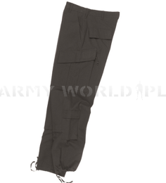 Cargo Pants Tessar ACU Army Combat Uniform Camouflage Black Ripstop New