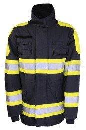 Dutch Firefighter's Jacket Flame-Retardant Military Surplus Used Set of 5 Pieces