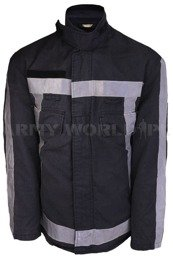 Dutch Firefighter's Jacket Flame-Retardant Navy Blue Genuine Used