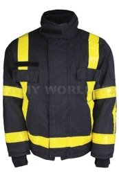 Dutch Firefighter's Jacket Flame-Retardant PWG NOMEX Genuine Used