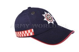 Fire & Rescue Stiff Baseball Cap Navy Blue Original Used