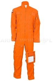 Firefighter Coverall Polish Army 606A/MON Flame-retendant Orange Original Used