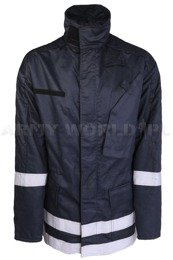 Firefighter's Jacket Flame-Retardant Albatros Navy Blue Original Used