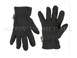 Fleece gloves Thinsulate Warmed Black Mil-tec New
