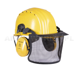 Forest Protective Helmet With Ear Protectors Schuberth SH91 Yellow Genuine Military Surplus Used