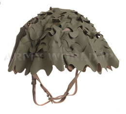 French Army Helmet Cover F1 Reversible Olive/ Brown Original Used