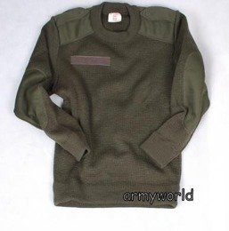 French Army Wollen Jumper Olive Original Military Surplus Used