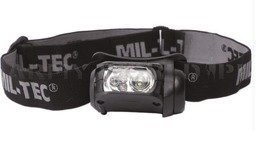 Headlamp Black LED Mil-tec New