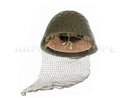 Helmet Camouflage Net + Face Net Olive Genuine Military Surplus New