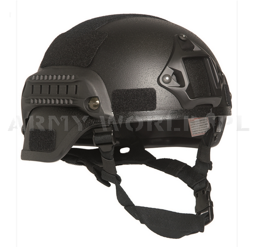 Helmet US MICH 2000 Armed MAX- Mil-tec - Black New