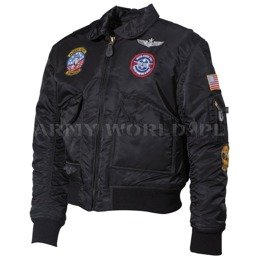 Kids Military Jacket CWU MFH Black New
