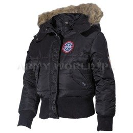 Kids Military Winter Jacket N2B MFH Black - New