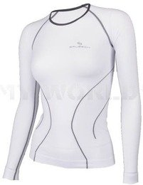 Long Sleeve Shirt for Ladies Brubeck Running Fit Balace Biała New