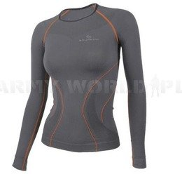 Long Sleeve Shirt for Ladies Brubeck Running Fit Balace Grey New SALE