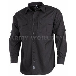 Long Sleeve Tactical Shirt Strike \MFH Black New
