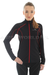 Long Sleeve Top For Women With Windprooft Membrane Brubeck Black SALE