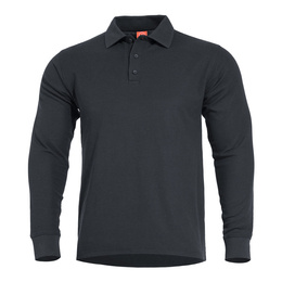 Long Sleeves Polo Shirt Aniketos Pentagon Black