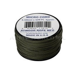 MICRO Cord (125ft) Atwood Rope MFG Olive Drab New