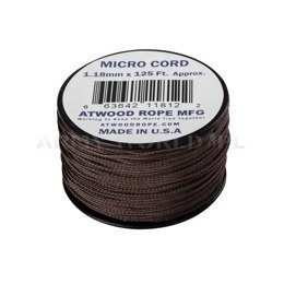 MICRO Cord (125ft) Atwood Rope MFG U.S. Brown New