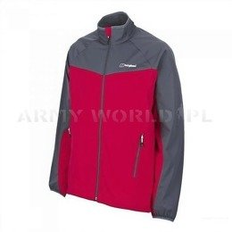 Men's Jacket SoftShell WindStopper Cadence Bergaus Red/Grey New