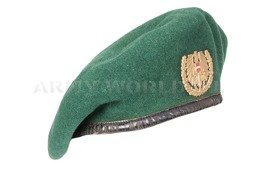 Military Austrian Beret Black With Indication Original Demobil