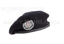 Military Austrian Beret Black With Indication Original Demobil II Quality
