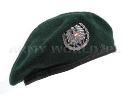 Military Austrian Beret Green With Indication Original Demobil - II Quality