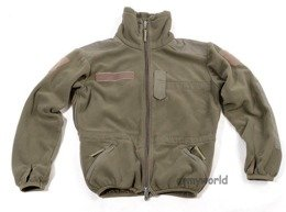 Military Austrian Fleece Jacket With Membrane Oliv Original Demobil
