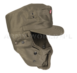 Military Austrian Ushanka Cap Oliv Original New - Set 12