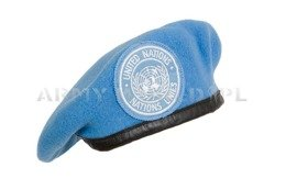 Military Beret With Badge United Nations (ONZ) Blue Original New