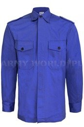 Military Dutch Work Shirt Blue Original New