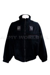 Military Fleece Jacket Glacier Black Original Used