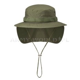"Military Hat  ""Boonie Hat"" - PolyCotton Ripstop - Helikon-Tex Oliv Green"