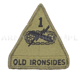 "Military Patch US ARMY ""First Armored Division Old Ironsides"" Original Demobil"