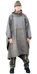 Military Rubber Rainproof Poncho Bundeswehr Original Demobil
