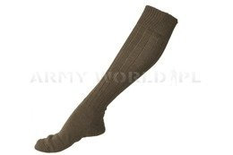 Military Socks Bundeswehr Woolen Long Version Oliv Original New