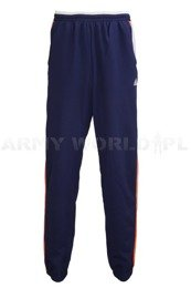 Military Sweatpants Adidas Navy Blue/Orange Original Military Surplus Used