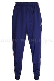 Military Sweatpants Adidas Navy Blue/Red Military Surplus Used