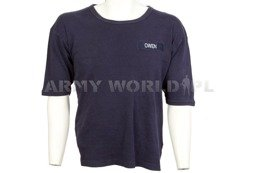 Military T-shirt With Badge OWEN Navy Blue Used