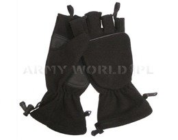 Military Tactical Gloves Foldable Mil-tec WINDSTOPPER Black New