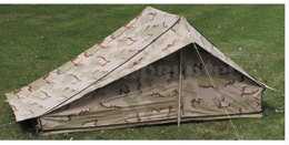 Military Tent 3 Color Dutch Army Original Used