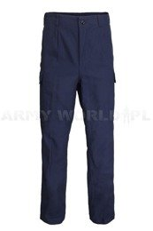 Military Trousers Flame-retendant German Cargo pants Bundeswehr Dark Blue Original Demobil