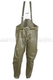Military Trousers with Braces Rubber Waterproof Bundeswehr Original Demobil