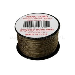 Nano Cord (300ft) Atwood Rope MFG Coyote New