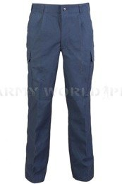 Navy Cargo Pants Nyco German Bundeswehr Dark Blue Original New