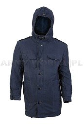 Navy Jacket Parka Dark Blue Warmed Original Demobil II Quality