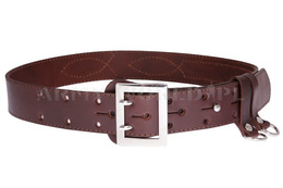 Officer's Leather Belt La Conga Brown New