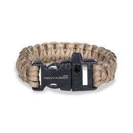 Paracord Bracelet With A Whistle Pselion Pentagon Coyote New