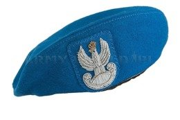 Polish Military Beret Blue With Eagle Embroidered Using Wire Original Unused