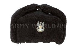 Polish Military Navy Officer Winter Cap Ushanka Cap With Indication Genuine Military Surplus Used